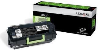 Lexmark Toner 522X Sort Ekstra Høykapasitet (45.000 sider) 52D2X00