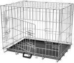 vidaXL Sammenleggbart hundebur metall M
