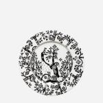 Iittala Taika plate 22cm black
