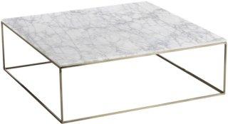 Am.Pm Lavt bord med patinert messing/marmor, Mahaut Unisex Hvit marmor