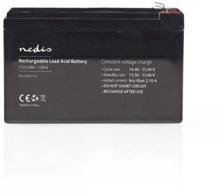 Oppladbart Blysyrebatteri 12 V   9000 mAh   150 x 65 x 95 mm