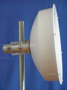 JIROUS Kit med 2 stk 5 GHz DP 23 dBi Parabol m/radome 2 x N-F connector 38cm (JRC-24 DuplEX)