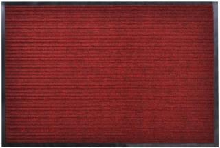 vidaXL Rød PVC Dørmatte 90 x 60 cm