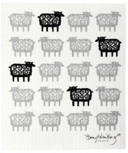 Klippans Yllefabrik Black sheep vaskeklut