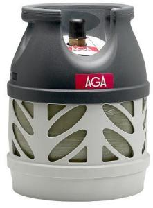 AGA Propan flaske u/gass kompositt 5kg AGA