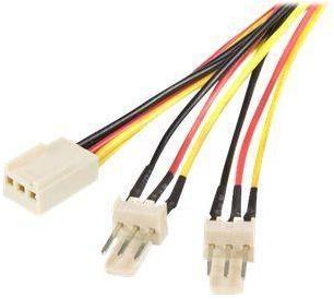 StarTech TX3 Fan Power Splitter Cable - Fan power splitter - 3 pin internal power (F) to 3 pin internal power (M) - 1 ft - TX3SPLIT12 - viftestrømsplitter - 30 cm (TX3SPLIT12)