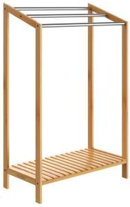 Håndklestativ bambus med hylle