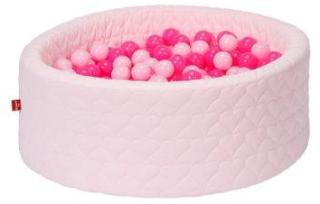 knorr® leker ballbad mykt - Koselig hjerterose inkludert 300 baller myk rosa