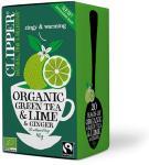 Clipper Grøn Te m. Lime & Ingefær Ø - 20 Pose
