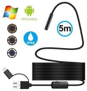 Vanntett 8 mm Inspeksjonskamera - USB, MicroUSB, Type-C - 5 m