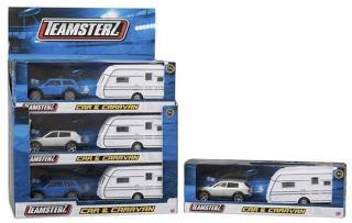 Bil Teamsterz m/campingvogn 26 cm: Teamsterz