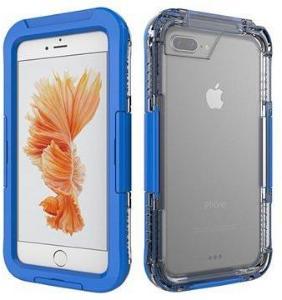 iPhone 7 Plus Vanntett Mobilpose - Mørkeblå