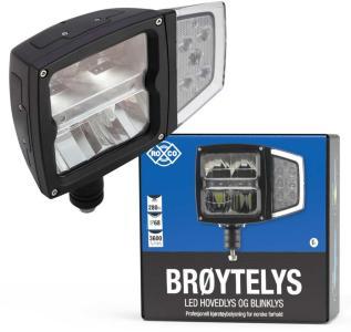 RoCo LED Brøytelys med oppvarmet glass og blinklys