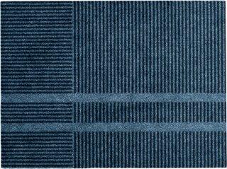 Løype Stormy Blue dørmatte 85x115 cm Heymat
