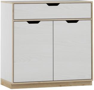 Hobbe Skjenk 90 cm - Hvit/Lyst Tre
