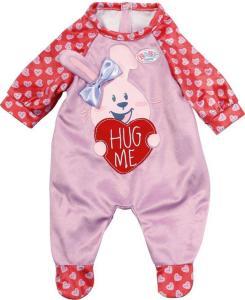 BABY Born rød romper med kanin til dukke 43 cm