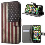 iPhone X / iPhone XS Style-serien Lommebok-deksel - Amerikansk Flagg