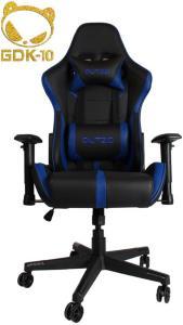 DUTZO E-Sport V2 - Black/Blue Gamingstol - Svart/Blå - PU-lær - Opptil 120 kg ESPORTV2-BBL