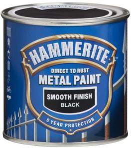 HAMMERITE METALLMALING GLATT SORT 250ML
