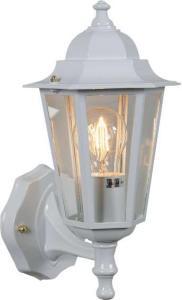 Elektro-Armatur Kristiansand utelampe vegg opp hvit 3103190001 Taklampe / Vegglampe