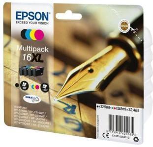 Epson 16XL Multipack - 4 pakker - XL - sort gul cyan magenta - original - blækpatron - Blekkpatron Svart C13T16364022