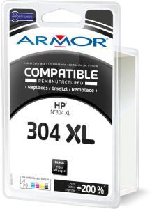 Armor Blekkpatron Sort (21.5ml), erstatter HP No.304XL/N9K08AE K20641 (Kan sendes i brev)