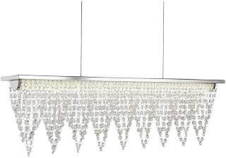 Drape Taklampe LED Krom / Crystal Waterfall - Searchlight