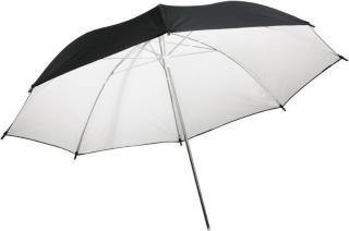 Paraply Reflektiv Hvit - 85 cm