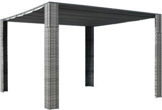 vidaXL Paviljong med tak polyrotting 300x300x200cm grå og antrasitt
