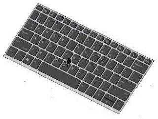 HP erstatningstastatur for bærbar PC - Storbritannia (L15500-031)