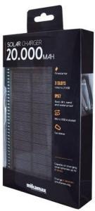 MM Powerbank med Solcellelader 20.000 mAh