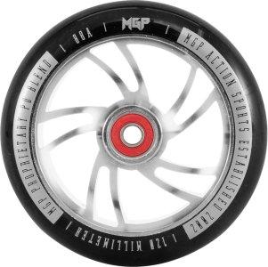 MGP Action Sports Shredder CNC wheels 120 mm, sparkesykkelhjulsett med hjullagre 120mm