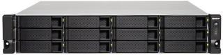 QNAP 12-Bay TurboNAS, AMD Quad-Core 2.0GHz, 4GB DDR3L RAM (max 16GB), 1 x 10GbE 10GBASE-T (pre-installed PCIe card), 4 x GbE, SATA 6Gb/s, AES-NI Hardware Encryption, Virtualization Station, Surveillan