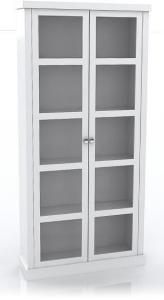 Skap m/2 dører og 4 hyller - hvit H:170