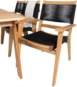 NORDFORM Stabelbar stol, Pluto 2-pk Unisex Akasie/svart