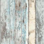 DUTCH WALLCOVERINGS Veggpanel slitt treverk blå PE10012