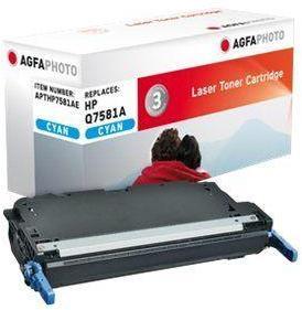 AGFAPHOTO Cyan - tonerpatron (alternativ for: HP Q7581A, Canon 711C, HP 503A) - for HP Color LaserJet 3800, 3800dn, 3800dtn, 3800n, CP3505, CP3505dn, CP3505n, CP3505x (APTHP7581AE)
