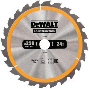 Sagblad for tre DeWalt 250x3x30,0 mm Z24 10°