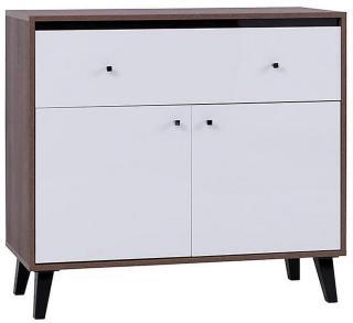 Oviedo Kommode 40x100 cm - Eik/Hvit/Svart