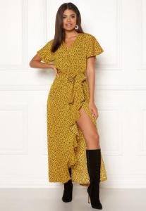 DRY LAKE Bela Long Dress 862 Yellow Heart P S