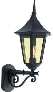 Elektro-Armatur Bergen utelampe vegg opp sort 1x60W E27 3103191074 Taklampe / Vegglampe