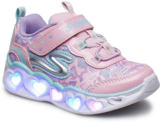 Skechers Girls Love Lights Sneakers Sko Lilla Skechers