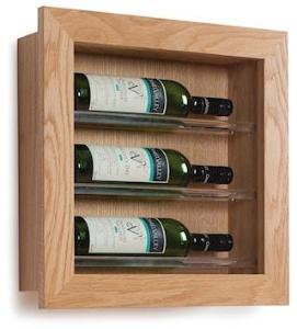 Traditional Wine Racks 3 Flaskers Vinstativ Display til vegg