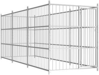 vidaXL Utendørs hundegård 450x150x185 cm