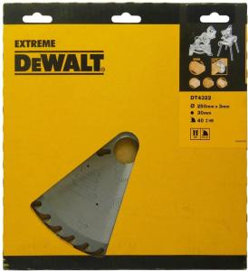 Sagblad for tre DeWalt 250x3x30,0 mm Z40 10°