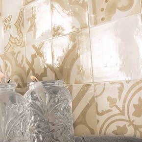 Flis Hill Ceramic Antique Lys Beige-Mørk Beige Blank 20x20 cm