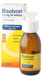 Bisolvon mikstur kirsebær 1,6 mg/ml - behandling mot slimhoste (125 ml)