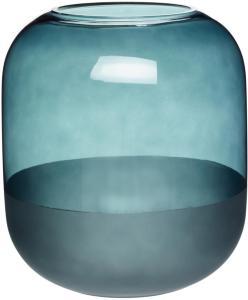 Hübsch Vase i frostet blågrønn 21 cm - Hübsch