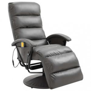 Massasjestol kunstig skinn - grå