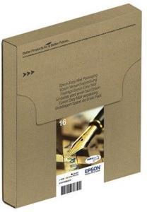 Epson 16 Multipack Easy Mail Packaging - 4 pakker - sort gul cyan magenta - original - blækpatron - Blekkpatron Svart C13T16264511